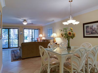 Photo for Beautifully remodeled villa w/ porch, balconies & shared pool!