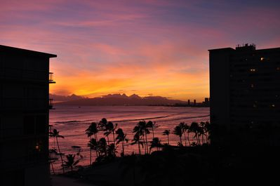 Sunset from the condo