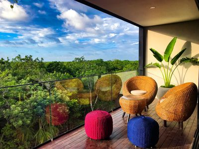Photo for ☆NOCTŪRNA ☆ Designers' Penthouse Overlooking Mayan Ruins & Jungle