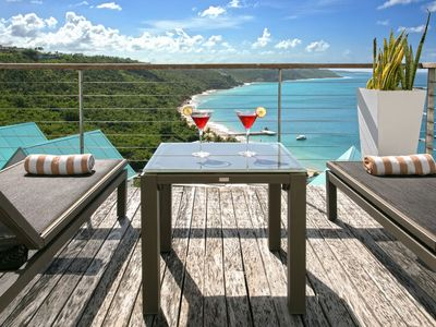 "Photo for CéBlue by ""Refined Retreats""~1 Bdr Luxury Villa~Amazing Ocean Views & private pool!"
