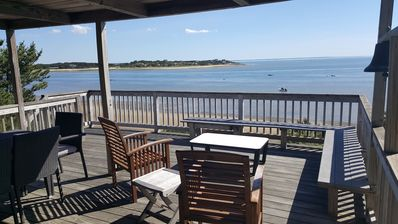 Photo for Indian Neck 5BD Waterfront Home--Stairs to Bay Beach, Amazing Sunset & Water Views
