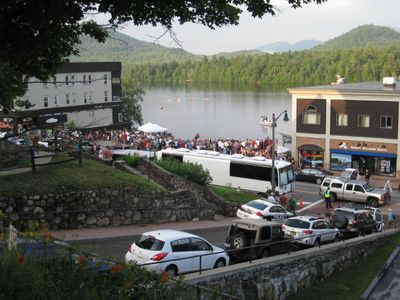 Mids Park concert viewed from house