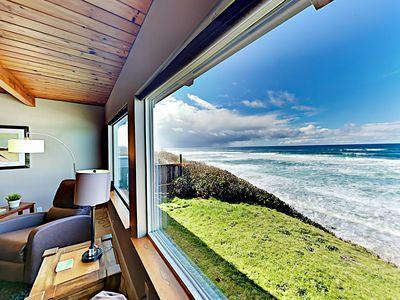 Photo for Spacious Oceanfront Getaway w/ Game Room, Epic Water Views & Private Hot Tub
