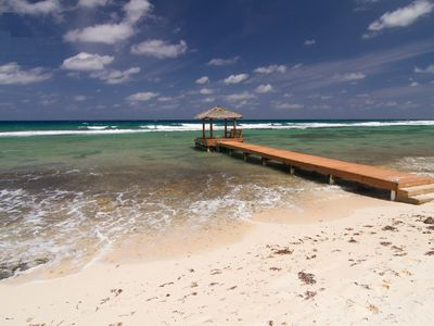 Photo for Ocean Pearl - Beachfront, Ocean View, Coral Garden, Private Dock, Pool and Kayak