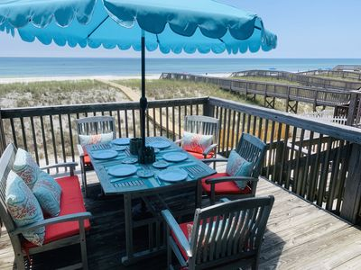 "Photo for DREAM DESTINATION! ""Dave's Dream"" beachfront property on Navarre sleeps 8-10!"