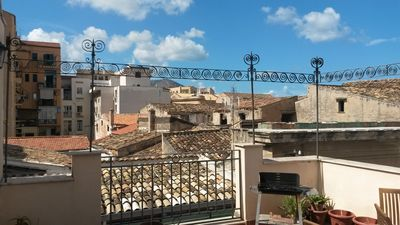 Photo for Top terrace in the historic center with BBQ, walk everywhere
