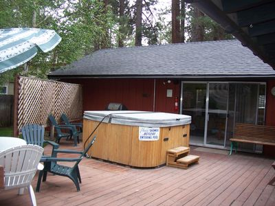 Large Deck and Bar B Q area.