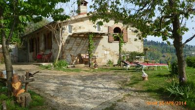 Unit 'WEST' terrace-garden - the widest view to sea,isles,hills,Apuane Alps