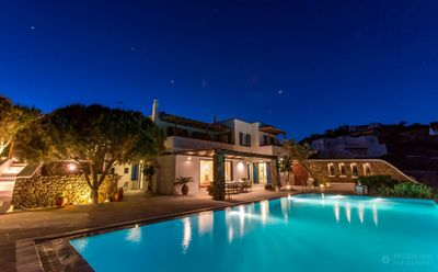 Photo for Panoramic view, Villa Abby Mykonos, 10 min from Mykonos Town, 5 Bedrooms 5 Bathrooms, Private Pool, up to 11 Guests