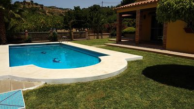 Photo for Great villa with pool on the edge of Estepona
