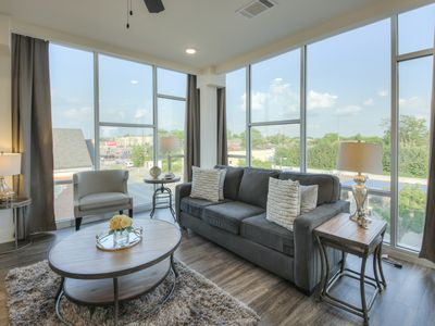 Photo for Luxurious Dowtown corner unit-Wall of Windows 2bed 2 bath Condo- #415