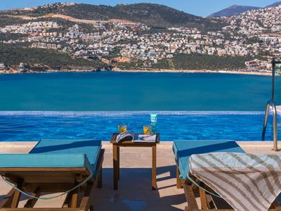 Photo for Fabulous Holiday Villa Kisla Kalkan, heated infinity pool, panoramic views