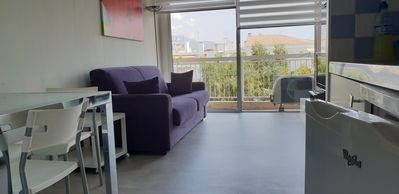 Photo for Nice - Sapphire Studio 40 meters from the sea, 5 p. lift AC / Wifi, balcony