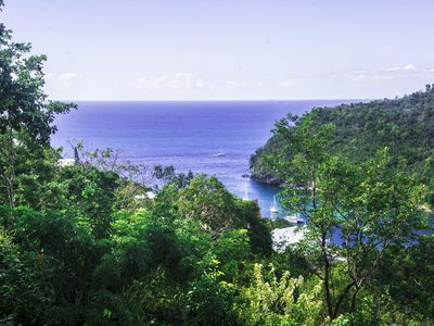 Photo for Exclusive cottage of Bay Views right over Marigots Bay