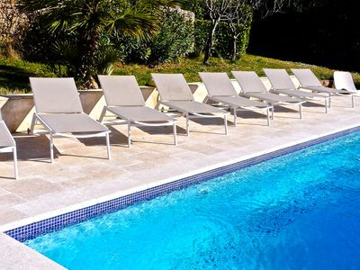Photo for Aix En Provence Villa for 9 people, Heated pool
