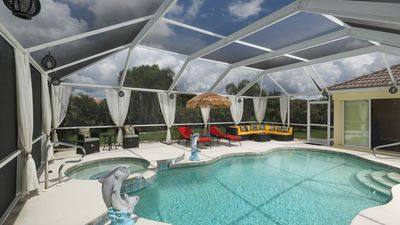 Photo for Brand New Rental - Gorgeous Pool Home - close to beaches & golf!  Escape today!