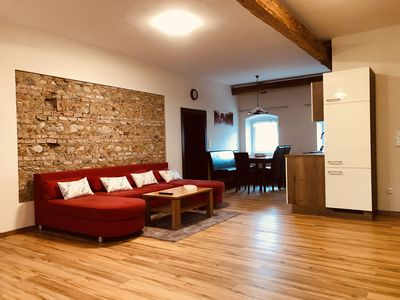 Photo for Modern apartment in 700 year old masonry