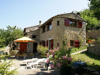 Photo for Magnificent holiday home, built in the Ardèche style with swimming pool