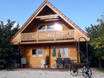"Photo for Ferienblockhaus ""Little Countryman"", 100qm, 2 Schlafzimmer für max. 8 Personen"