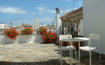 Photo for Polignano a Mare, Red Flowers house with terrace