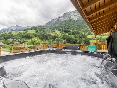 Photo for Skiing in La Clusaz comfort well being jacuzzi wifi parking terrace view