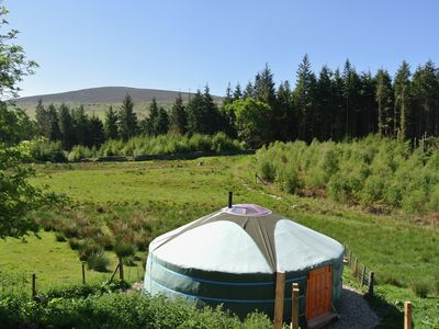 Photo for Mongolian Yurt with Log Cabin Kitchen/Bathroom in Berwyn Mountains, North Wales