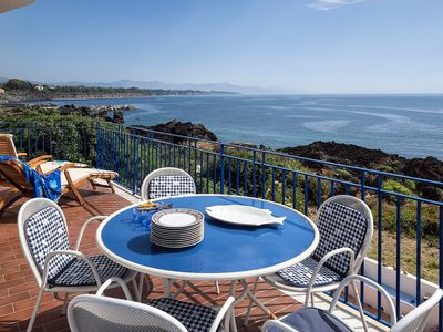 Photo for WATERFRONT house on lava rocks with big terraces and stunning views