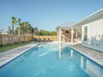 Photo for New construction across from direct beach access w/lg private pool