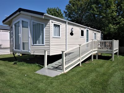 Photo for Superb 2 Bed Caravan, New Romney. Family friendly. Wheelchair accessible entranc
