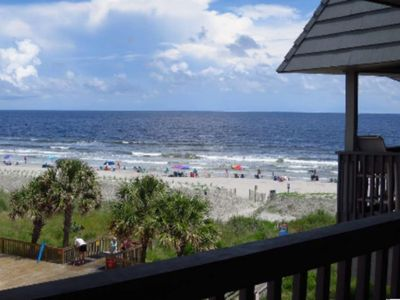 Photo for Seaside Condo With Stunning Ocean Views, Fishing Pier, Spacious Balcony, & Pool