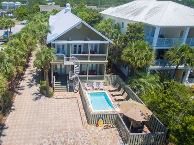 Photo for 6 All Suite Bedrooms/ Private Pool/ Gulf Views/ Southside 30A