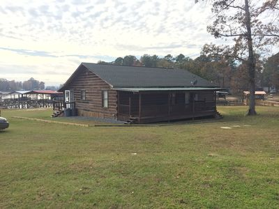Photo for Log Cabin on the Lake - Private launch and boat house!