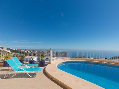 Photo for This 3-bedroom villa for up to 6 guests is located in Moraira and has a private swimming pool, air-c