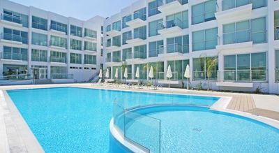 Photo for Modern one-bed, self catering apartment, sea views, free WiFi-A113 Coralli Spa