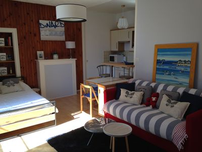 Photo for Studio in downtown between the sea and the market place, thalassatherapy