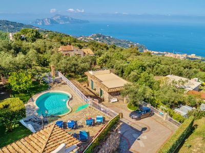 Photo for Sant'Agata sui Due Golfi Villa, Sleeps 14 with Pool, Air Con and WiFi