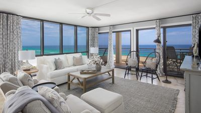 Photo for Gulf Front Luxury. BEACH VIEWS!  Renovated 3BR Emerald Towers, Pool, Sleeps 8
