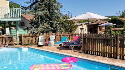 Photo for Beautiful house between Bergerac and Périgueux for 8 people, swimming pool, sauna, garden