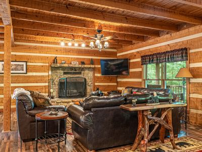 Photo for Spacious and secluded cabin with HUGE gameroom