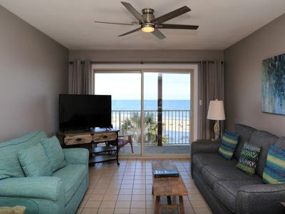 Photo for REMODELED, tiled showers, Southern Sands 306 Gulf Front directly on the beach ~ Prime Spot/Walk to T