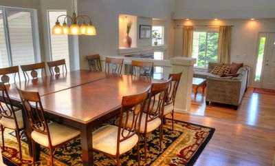Large formal dining area, seats 12, this in addition to the 8 already in kitchen
