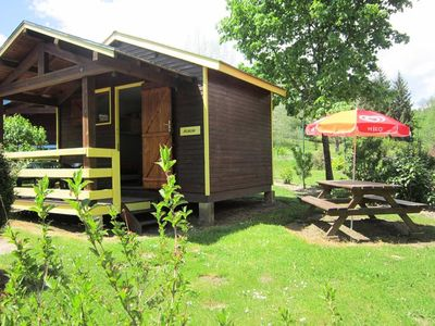 Photo for Camping La Rochelambert **** - Yellow Cabin 2 rooms 2/4 people Without Bathroom