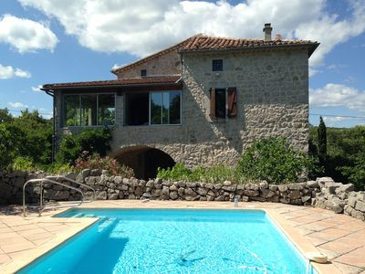 Photo for LABEAUME Independent character house very large garden and pool South Ardèche