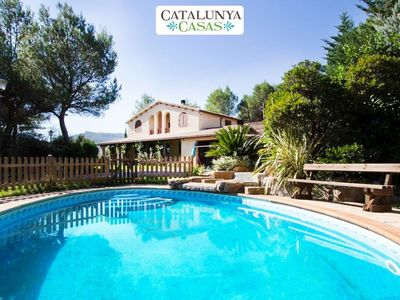 Photo for Catalunya Casas: Five-bedroom villa in Vacarisses for 11 people just outside of Barcelona
