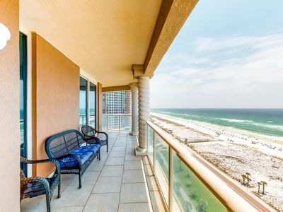 Photo for NEW LISTING! Gorgeous waterfront condo w/ shared pools, gym, & beach access