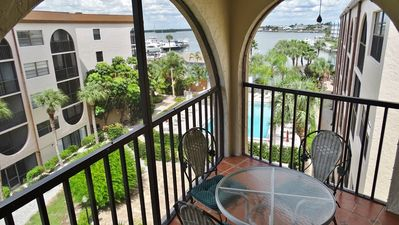 Photo for Top Floor Unit with Pool and Bay Views