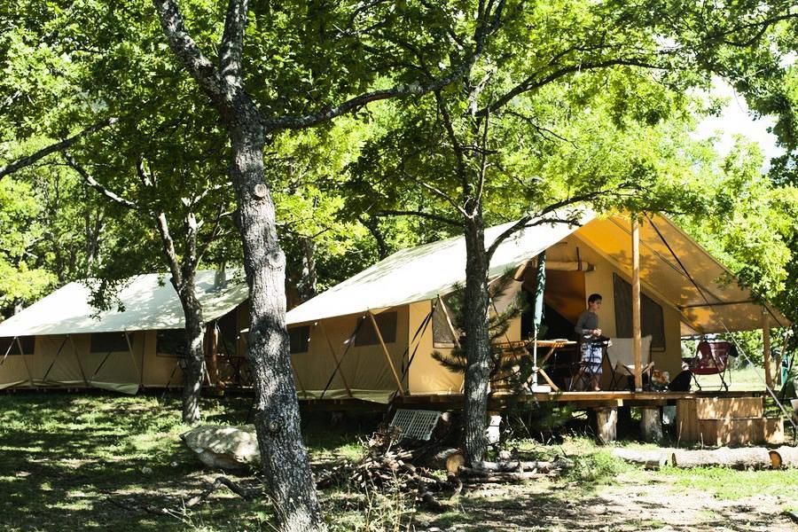 Property Image#1 C&ing Huttopia Sud Ardèche *** - Trapper Tent 3 Rooms & Camping Huttopia Sud Ardèche Trapper Tent 3 Rooms 5 People Vagnas ...