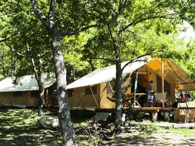 Photo for Camping Huttopia Sud Ardèche *** - Trapper Tent 3 Rooms 5 People