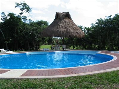 View of the Pool , Palapa, Outdoor Table
