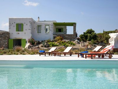 Photo for A Stone Made Villa with 2 Private Pools and Sea View at Unique Prices